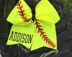 personalized bows softball bows etsy