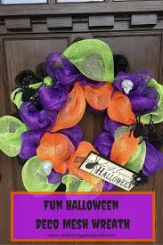 fun halloween deco mesh wreath