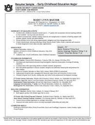 Early Childhood Resume Examples by Education Cover Letters For Resumes Early Childhood Education