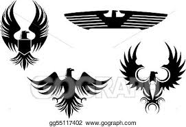 eagle tattoo clipart vector art eagle tattoos clipart drawing gg55117402 gograph