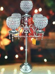 Cheap Candelabra Centerpieces 5arms Tall Wedding Crystal Globe Candelabra Centerpiece Candle