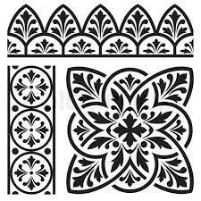 set of design elements for classic european ornament stock