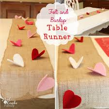Holiday Table Runners by Valentine Felt And Burlap Table Runner