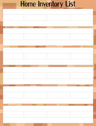Insurance Inventory List Template Home Inventory Printable Images Reverse Search
