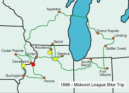 Baseball Map Midwest League The Spokesrider
