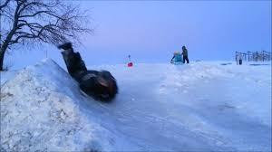 backyard ice slide youtube