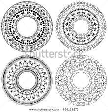 set vector stencils four ornament stock vector 266152973