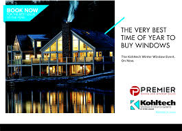 winter window booking event on now premier siding and window sales