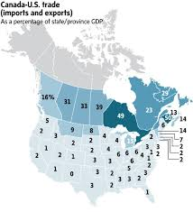 Political Map Of United States And Canada by How Much Trade Leverage Does Canada Really Have With The U S