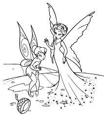 disney fairies tinkerbell broke magic fruit coloring