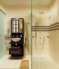 Small Shower Stall by Teak Bath Mat In Bathroom Contemporary With Pebble Shower Floor