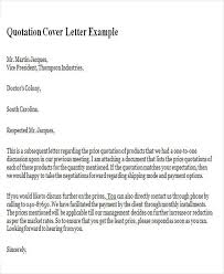 brilliant ideas of sample cover letter for quotation for your