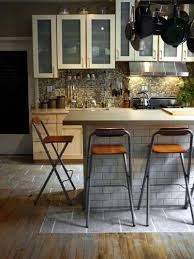 kitchen island with breakfast bar and stools amazing kitchen mixed wood floors with tile and folding