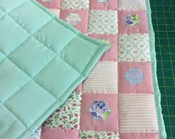 Girls Patchwork Bedding by Quilted Baby Blanket Etsy