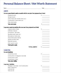 Estate Deal Sheet Template 13 Balance Sheet Exles In Word Pdf Free