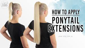 ponytail hair extensions how to apply ponytail extensions