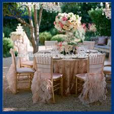 fancy chair covers ch005b wholesale fancy hot sale frilly curly willow pink ruffled