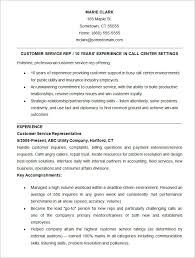 Resume Examples Customer Service Resume by Simple Customer Service Representative Resume Example