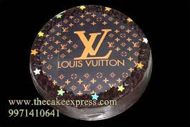 louis vuitton round photo cake online cakes delivery gurgaon