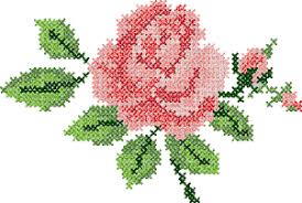 cross stitch machine embroidery design