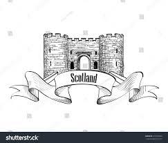 scotland label ribbon copy space scotch stock vector 217384504