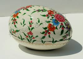 paper mache egg box painted easter gift box paper mache easter decorations egg