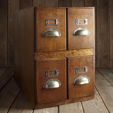 Antique Wood File Cabinet Wooden Filing Cabinet Vintage Roselawnlutheran