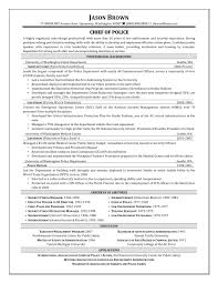 Resume Templates For Law Enforcement Extraordinary Police Chief Resume Examples For Police Dog Handler