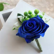 royal blue corsage new 2017 royal blue wrist flower corsage for groom