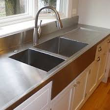 stainless steel countertop with built in sink your diy stainless steel countertop fabrication guide stainless