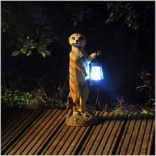 comfortable meerkat solar light garden ornaments elegantly ritz news