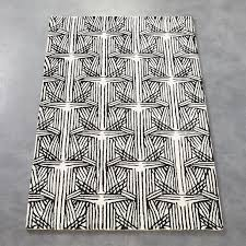 Black White Area Rug Black White Rug