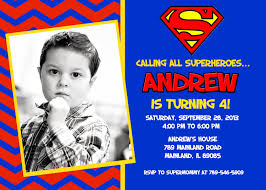Personalized Birthday Invitation Cards Superman Birthday Invitations Marialonghi Com