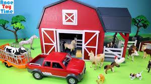 farm barn terra playset with fun animals toys for kids youtube