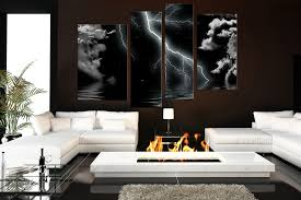 modern wall decals for living room 4 piece multi panel art thunderstorm canvas wall art modern huge
