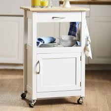 Metal Island Kitchen Rolling Kitchen Cabinet Plush 18 Metal Island With Wooden Top And