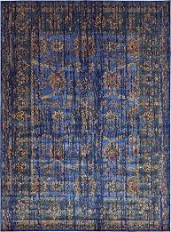 Over Dyed Distressed Rugs Vintage Contemporary Inspired Overdyed Distressed Rugs Blue 4 U0027 X 6