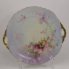 mz austria bridal moritz zdekauer mz austria cake plate painted roses porcelain