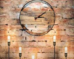 reclaimed wood clock etsy