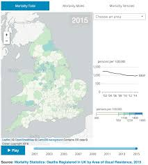 Sussex England Map by Deaths Registered In England And Wales Office For National