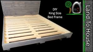 Build Your Own King Size Platform Bed by Diy King Size Bed Frame Youtube