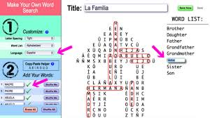 make own word search make a spanish word search puzzle to teach vocabulary