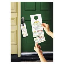 avery door hanger with tear away cards 4 1 4 x 11 matte white