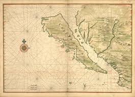 map of mexico and california historical map of mexico baja california 1650