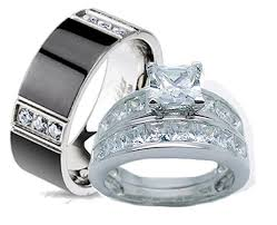 wedding rings sets his and hers for cheap 3 wedding ring set his hers wedding corners