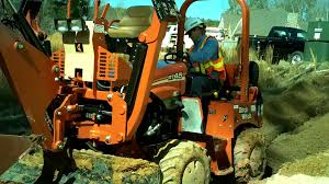 ditch witch rt45 trencher backhoe youtube