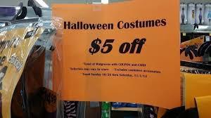 Halloween Costumes Clearance Walgreens Clearance Halloween Costumes Additional Savings