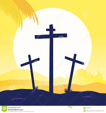 jesus crucifixion calvary scene with three cross royalty free