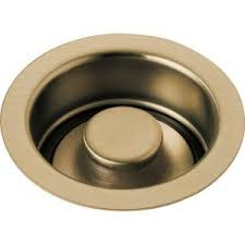 Delta  In Kitchen Sink Flange And Strainer In Champagne - Kitchen sink drain plug