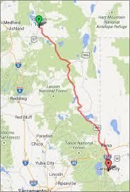 map of highway 395 oregon bike trip